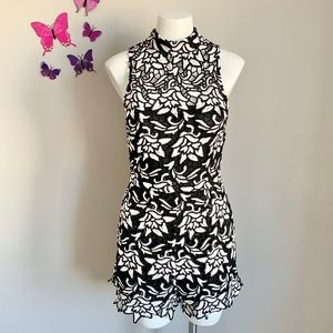 NWT High Collared Floral Romper